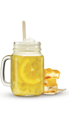 The OJ Dreamsicle drink recipe is made from Cruzan Orange rum, Cointreau orange liqueur, vanilla rum and half-and-half, and served over ice in a rocks glass.
