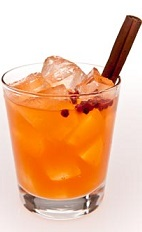 If you find yourself in Brazil for the Olympics and are in the mood for a Negroni, forget about it, try something local instead. The Orange and Spice is a Brazilian-inspired variation of the classic aperitif cocktail. An orange colored drink recipe made from Leblon cachaca, Aperol, orange juice and simple syrup, and served over ice in a rocks glass with cinnamon.