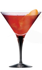The Oranje Cosmopolitan is a great variation of the classic Cosmo cocktail. A red colored cocktail named for its ingredients, not for its name. Made from Ketel One oranje vodka, pomegranate juice, sour mix and orange, and served in a chilled cocktail glass.