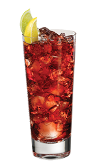 The PAMA Tea is made in the tradition of a good summer tea, mixed with tropical flavors. Made from PAMA pomegranate liqueur, citrus vodka, fresh iced tea and simple syrup, and served over ice in a highball glass.
