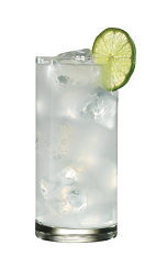 The Paloma Azul drink recipe is made from Lunazul blanco tequila, lime juice, salt and grapefruit soda, and served over ice in a highball glass.