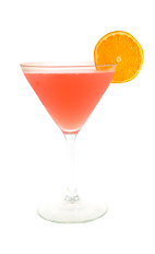 The Paradise Martini is a peach colored cocktail made from Smirnoff pomegranate vodka, pineapple, pineapple juice and cranberry juice, and served in a chilled cocktail glass.