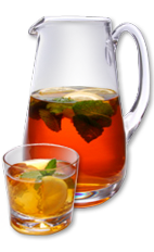 The Patriot Tea is a refreshing summer tea made from Wild Turkey American Honey, tea, sugar, lemon and mint, and served over ice from a pitcher or punch bowl.