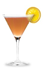The Peach Creek is an orange colored drink made from peach schnapps, bourbon and sour mix, and served in a chilled cocktail glass.