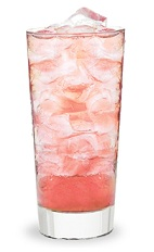 The Peachtree and Cranberry is a pink drink made from Peachtree peach schnapps, cranberry juice and lemon-lime soda, and served over ice in a highball glass.