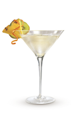 The Pina Colada Martini cocktail recipe is made from Cruzan Coconut rum, pineapple rum and pineapple juice, and served in a chilled cocktail glass.