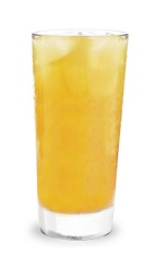 The Pingwing is a orange drink made from DeKuyper Peachtree schnapps, dark rum and pineapple juice, and served over ice in a highball glass.
