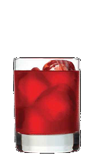 The PomTang is a red colored drink recipe made from Three Olives Rangtang orange vodka, pomegranate juice and sour mix, and served over ice in a rocks glass.