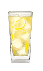 The Porch Crawler is a yellow-colored drink made from vodka, beer and frozen lemonade concentrate, and served over ice in a highball glass.