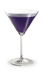 The Purple Haze is a purple cocktail made from Pucker grape schnapps, vodka, sour mix and lemon-lime soda, and served in a chilled cocktail glass.