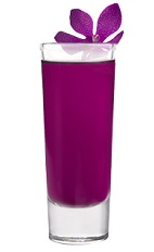 The Purple Nurpl is a sexy exotic purple colored shot made from Leblon cachaca, Cedilla acai liqueur and lemon juice, and served in a chilled shot glass.