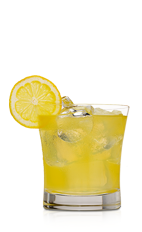 The Q Rum Sour lives up to its name, being a slightly sour yellow colored cocktail recipe made from Don Q Limon rum and sour mix, and served over ice in a rocks glass.