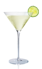 The Queen Bee cocktail is made from Stoli Sticki honey vodka, lime juice, cucumber, tripble sec and bitters, and served in a chilled cocktail glass.