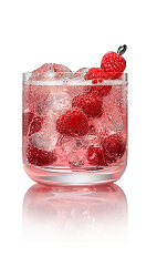 The Razpiroska drink is a variation on the classic Brazilian Caipiroska drink. Made from Stoli Razberi raspberry vodka, agave nectar, club soda and raspberries, and served in an old-fashioned glass.