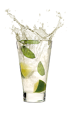 The Red Mojito is a modern variation of the classic Mojito drink. Made from Malibu Red, lime, simple syrup and mint leaves, and served in a highball glass.
