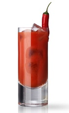 The Red Snapper No 2 is a red colored drink made in the fashion of the classic Bloody Mary cocktails. Made from Martin Miller's gin, tomato juice, celery salt, Tabasco sauce, Worcestershire sauce, and salt and pepper, and served over ice in a highball glass.