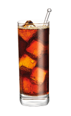 The Root Beer and Cola drink is a tall brown colored drink made from Smirnoff Root Beer vodka and Pepsi or Coke, and served over ice in a highball glass.