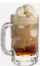 The Cherry Coke Float drink recipe is a variation of the classic Root Beer Float, designed for adults. Made from Burnett's cherry cola vodka, ice cream and Coca-Cola, and served in a chilled mug.