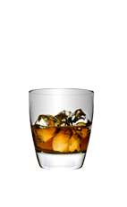 The Royal Washington Apple is a smooth brown colored drink made from Smirnoff Green Apple vodka and Crown Royal whiskey, and served over ice in a rocks glass.