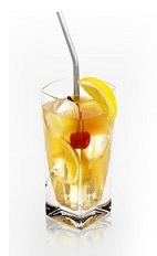 The Rye Disaronno is a tall refreshing orange drink made from Disaronno, Scotch whiskey and ginger ale, and served over ice in a highball glass.