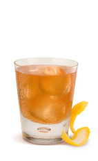 The Rye Guy is an orange colored drink recipe made from Gran Gala Triple Orange liqueur, rye whiskey, lemon juice, pimento dram, maple syrup and whiskey barrel bitters, and served over ice in a rocks glass.