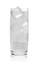 The Salted Karamel Soda is made from Stoli Salted Karamel vodka and soda water, and served over ice in a highball glass.