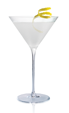 The Salted Lemon Drop cocktail is made from Stoli Salted Karamel vodka, lemon juice and triple sec, and served in a chilled cocktail glass.