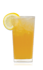 The San Sebastian Sling is an orange colored drink recipe made from Don Q white rum, bourbon, maple syrup, lemon juice, pineapple juice, apricot nectar and maple syrup, and served over ice in a highball glass.