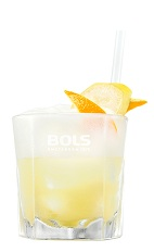 The Screwdriver Special is an orange colored drink made from vodka, triple sec, orange juice and banana liqueur, and served over ice in a rocks glass.