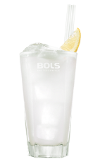 The Sensation is a clear summer drink made from yoghurt liqueur, blueberry liqueur and 7-Up, and served over ice in a highball glass.