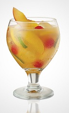Sangrias are traditional summer drinks made with lots of seasonal fruit, to prevent the excess fruit from spoiling. The Sexy Sangria cocktail is perfect for an intimate encounter with your lover, made from Seagram's Peach Twisted gin, Seagram's Red Berry Twisted gin, peach schnapps, orange juice, lime juice, lemon juice, ginger ale and fresh fruits, and served over ice in a wine glass.