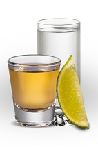 The Shot of Cuervo drink is a classic shot made from Jose Cuervo tequila (silver or gold), salt and lime, and served in a room-temperature shot glass.