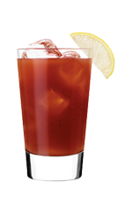 The Silver Wasabi Bloody Mary is a red-colored drink made from Smirnoff vodka, tomato juice, worcestershire sauce, hot sauce, black pepper and wasabi, and served over ice in a highball glass.