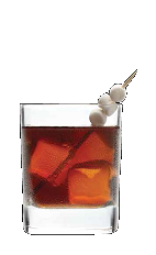 The S'mores and Cola drink recipe is made from Three Olives S'mores vodka, cola and marshmallows, and served over ice in a rocks glass.