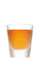 The SoCo Lime is an orange colored shot made from Southern Comfort Lime, and served in a chilled shot glass.