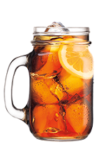 The SoCo Tea is made from Southern Comfort 100 Proof, sweet and sour mix, sweetened tea and cola, and served over ice in a mason jar.