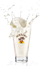 The Sorbet Bay drink is made from Malibu coconut rum, coconut water and fresh coconut, and blended with ice.