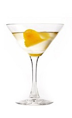 The South Pacific Martini recipe is made from 42 Below vodka, Benedictine, lemon and orange, and served in a chilled cocktail glass.