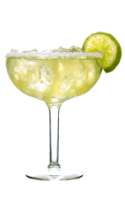 The Southern Margarita is made from Southern Comfort Lime and sweet & sour mix, and served in a chilled margarita glass.