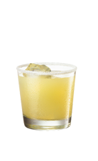 The Southside drink is made from Smirnoff Green Apple vodka, orange juice and lime, and served over ice in a rocks glass.