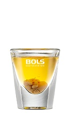 The Soweto Toilet is an ugly orange shot made from banana liqueur, dark creme de cacao and Amarula, and served in a chilled shot glass.