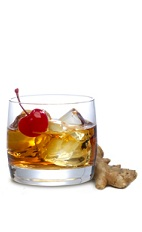 The Spicy Manhattan is a wild variation of the classic Manhattan drink. An orange colored drink made from Knob Creek bourbon, DeKuyper ginger liqueur and bitters, and served over ice in a rocks glass.