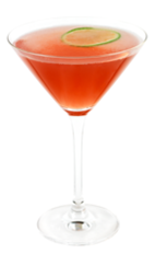 The Spicy Romance is a red colored cocktail, perfect as a wedding drink or for a romantic evening with your lover. Made form Effen black cherry vodka, triple sec, pomegranate juice, lime juice, simple syrup and bitters, and served in a chilled cocktail glass.