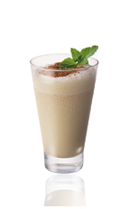 The Springbok Frozen shot is a cream colored shot made from Amarula cream liqueur, milk and gin, and served in a chilled shot glass.