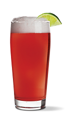 The Sriracha Chelada is an exciting red colored cocktail recipe packed with flavor and a bit of heat, with heavy hints of a Bloody Mary ingredient list. Made from UV Sriracha vodka, beer, tomato juice, lime juice and Worcestershire sauce, and served in a chilled salt-rimmed highball glass.