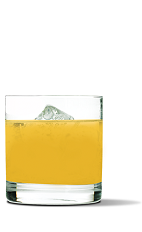 The Sriracha Screwdriver drink recipe is a spicy variation of the classic Screwdriver. An orange colored cocktail made from UV Sriracha vodka and orange juice, and served over ice in a rocks glass.