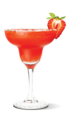 The Srirachaberry Margarita is a red colored delight, perfect for Cinco de Mayo or any other party. Made from UV Sriracha Vodka, agave nectar, and strawberries, and served blended n a chilled margarita glass.