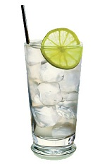 The St-Germain Gin and Tonic is a clear colored drink made from gin, St-Germain elderflower liqueur and tonic water, and served over ice in a highball glass.