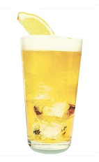 The St-Germain Shandy is made from any pilsner beer, lemon and St-Germain elderflower liqueur, and served in a beer glass.