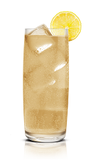 The Sticki Mule drink is made from Stoli Sticki honey vodka, ginger ale and lemon, and served over ice in a highball glass.
